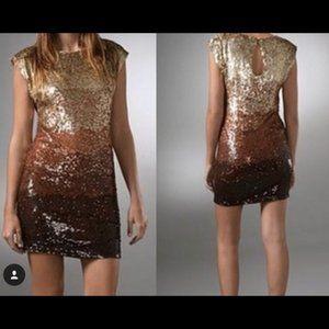 Alice + Olivia Voula Sequin Ombre Dress XS